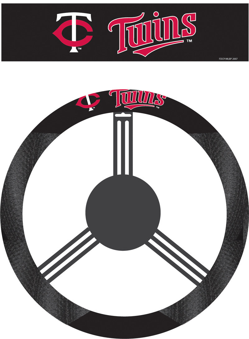 Minnesota Twins Poly-suede Steering Wheel Cover