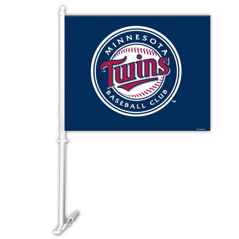Minnesota Twins Car Flag W/wall Brackett