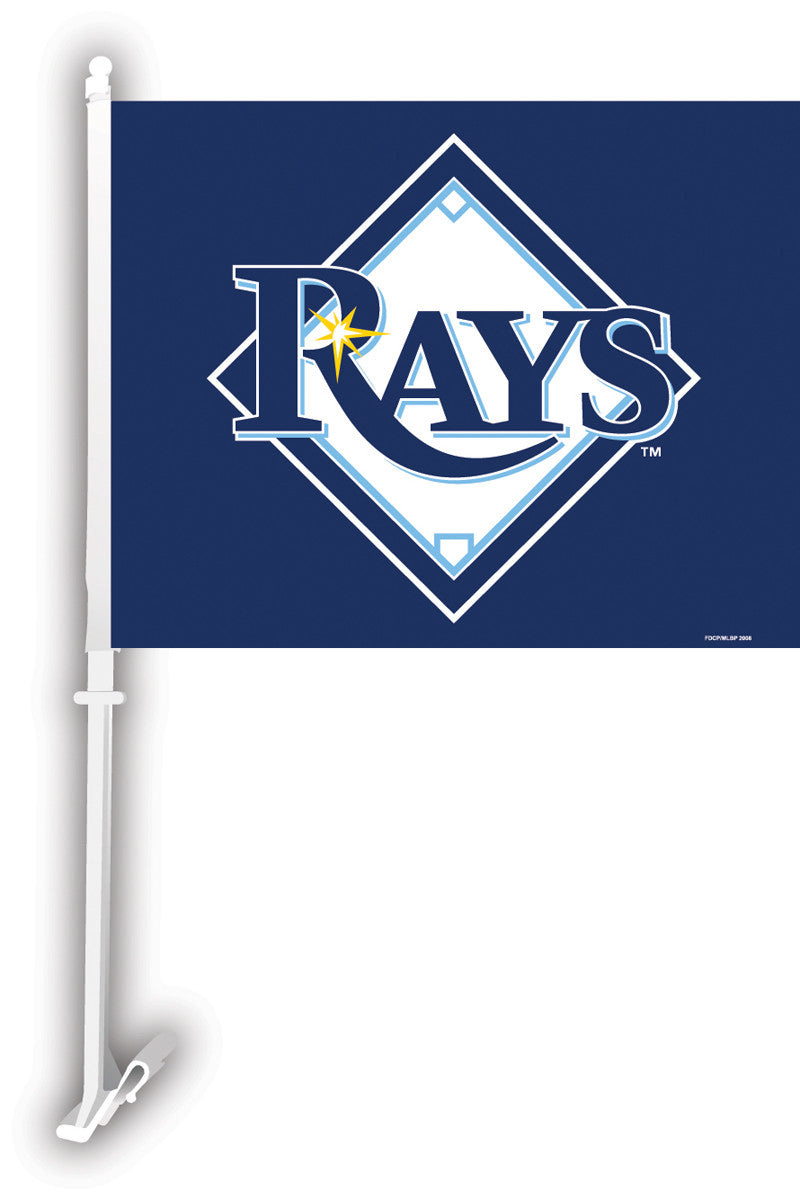Tampa Bay Rays Car Flag W/Wall Brackett BSI-68930