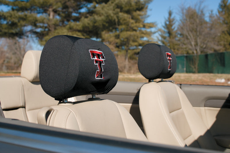 Texas Tech Red Raiders Headrest Covers Set Of 2