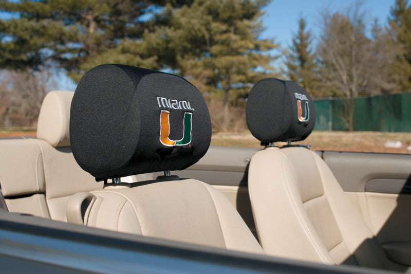 Miami Hurricanes Headrest Covers Set Of 2