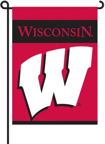 Wisconsin Badgers 2-Sided Garden Flag - Peazz.com