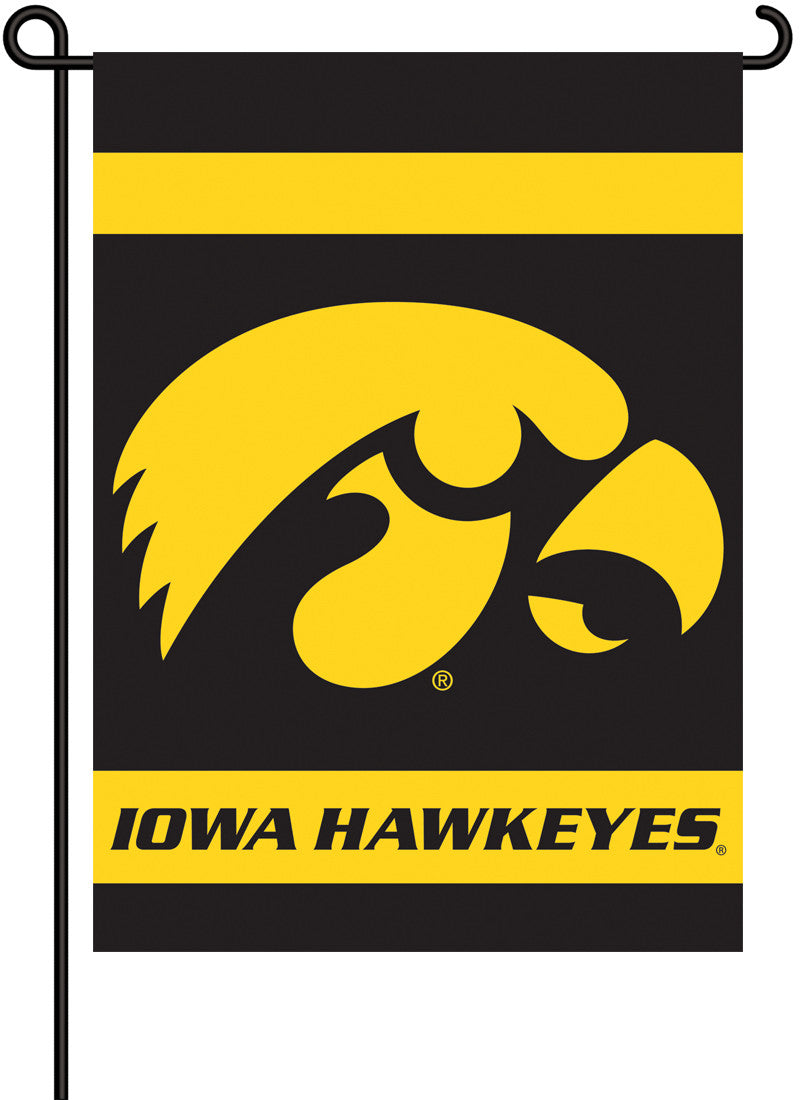 Iowa Hawkeyes   2-Sided Garden Flag