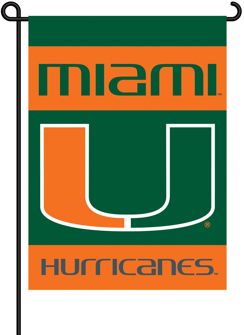 Miami Hurricanes 2-Sided Garden Flag BSI-83031