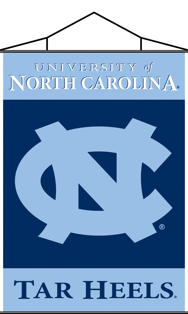 North Carolina Tar Heels Indoor Banner Scroll
