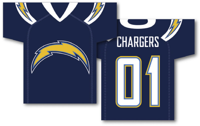 """San Diego Chargers Jersey Banner 34"""" x 30"""" - 2-Sided"""