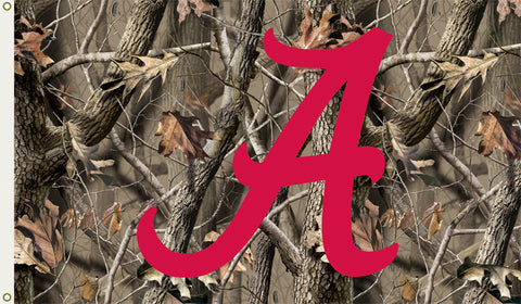 Alabama Crimson Tide 3 Ft. X 5 Ft. Flag W/Grommets - Realtree Camo Background - Peazz.com