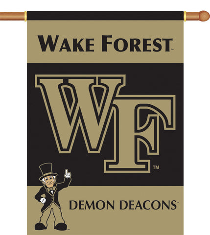 "Wake Forest 2-Sided 28"" X 40"" Banner W/ Pole Sleeve - Peazz.com"