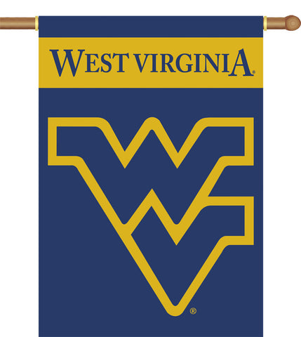 "West Virginia Mountaineers 2-Sided 28"" X 40"" Banner W/ Pole Sleeve - Peazz.com"