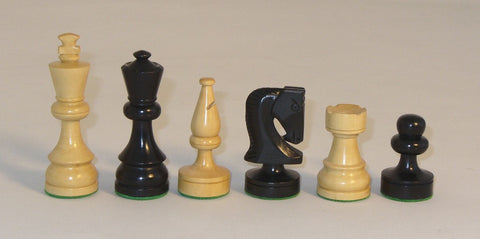 "Russian Style Chess Pieces, Single Weighted, 3 1/2"" King - Peazz.com"