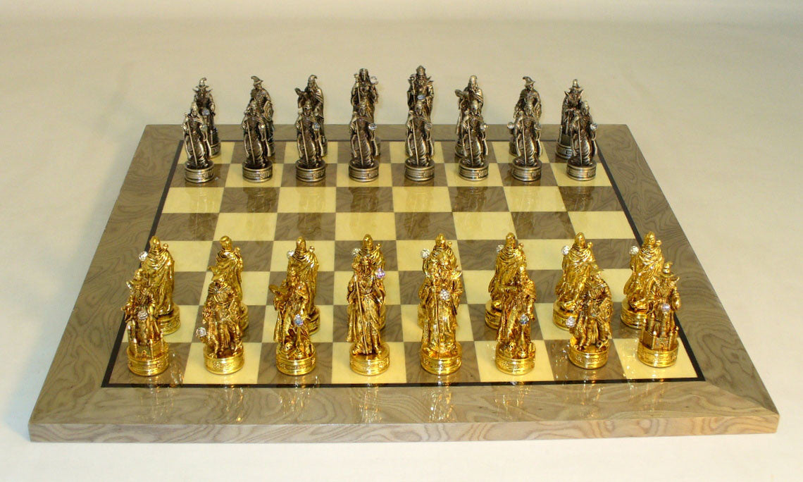 Royal Chess Fantasy Pewter Grey Briar Chess Set (PC8566-GY)