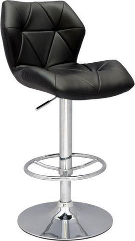 "Chintaly 0310-AS Pneumatic Gas Lift Height Swivel Stool - 23.62"" - 32.28"" - BarstoolDirect.com"