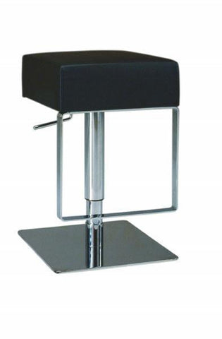 "Chintaly 0811-AS-BLK Pneumatic Gas Lift Adjustable Height Swivel Stool - 21"" - 29"" - BarstoolDirect.com"