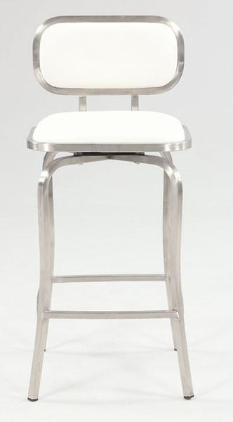 Chintaly 1192-cs-wht Modern Swivel Counter Stool