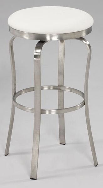 Chintaly 1193-bs-wht Modern Backless Bar Stool