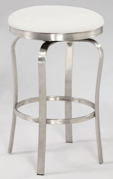 Chintaly 1193-cs-wht Modern Backless Counter Stool