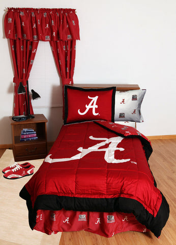 Alabama Bed in a Bag King - With White Sheets - ALABBKGW by College Covers - Peazz.com