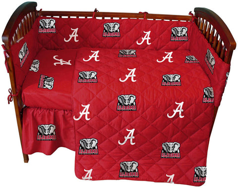 Alabama 5 piece Baby Crib Set  - ALACS by College Covers - Peazz.com