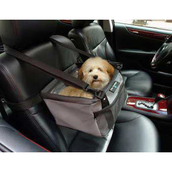 Pet Viewer Car Seat 13 x 10 x 7.5 - Gray - Peazz.com