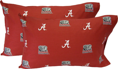 Alabama Printed Pillow Case - (Set of 2) - Solid - ALAPCSTPR by College Covers - Peazz.com