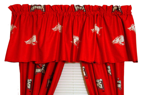 "Arkansas Printed Curtain Valance - 84"" x 15"" - ARKCVL by College Covers - Peazz.com"