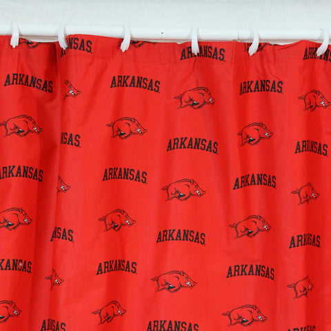 "Arkansas Printed Shower Curtain Cover 70"" X 72"" - ARKSC by College Covers - Peazz.com"