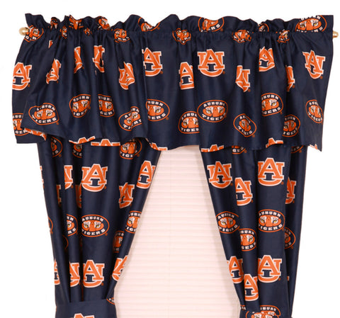 "Auburn Printed Curtain Panels 42"" X 63"" - AUBCP63 by College Covers - Peazz.com"
