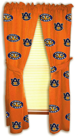 "Auburn Printed Curtain Panels 42"" X 84"" - AUBCP84 by College Covers - Peazz.com"