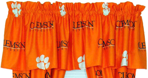 Clemson Printed Curtain Valance - 84 x 15 - CLECVL by College Covers - Peazz.com