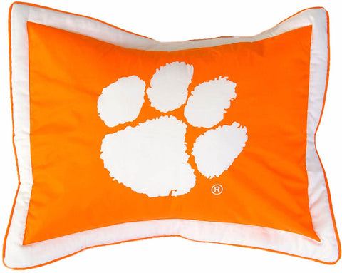 Clemson Printed Pillow Sham - CLESH by College Covers - Peazz.com