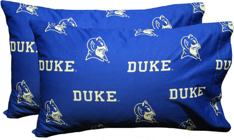 Duke Printed Pillow Case - (Set of 2) - Solid - DUKPCSTPR by College Covers - Peazz.com
