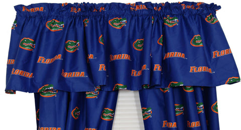 Florida Printed Curtain Valance - 84 x 15 - FLOCVL by College Covers - Peazz.com