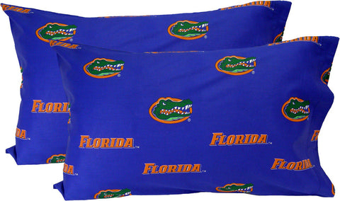 Florida Printed Pillow Case - (Set of 2) - Solid - FLOPCSTPR by College Covers - Peazz.com