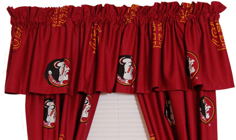 FSU Printed Curtain Valance - 84 x 15 - FSUCVL by College Covers - Peazz.com