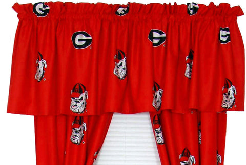 Georgia Printed Curtain Valance - 84 x 15 - GEOCVL by College Covers - Peazz.com