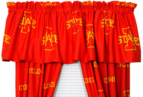 Iowa State Printed Curtain Valance - 84 x 15 - ISUCVL by College Covers - Peazz.com