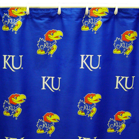 "Kansas Printed Shower Curtain Cover 70"" X 72"" - KANSC by College Covers - Peazz.com"