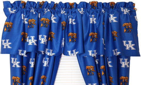Kentucky Printed Curtain Valance - 84 x 15 - KENCVL by College Covers - Peazz.com