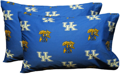 Kentucky Printed Pillow Case - (Set of 2) - Solid - KENPCSTPR by College Covers - Peazz.com