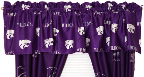 Kansas State Printed Curtain Valance - 84 x 15 - KSUCVL by College Covers - Peazz.com