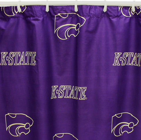 "Kansas State Printed Shower Curtain Cover 70"" X 72"" - KSUSC by College Covers - Peazz.com"