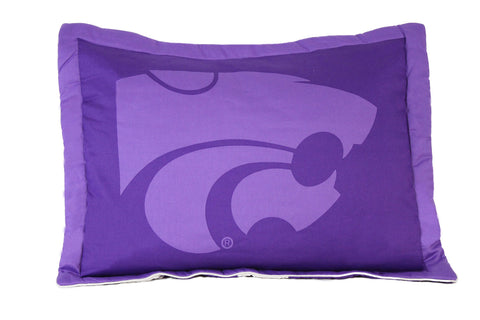 Kansas State Printed Pillow Sham - KSUSH by College Covers - Peazz.com