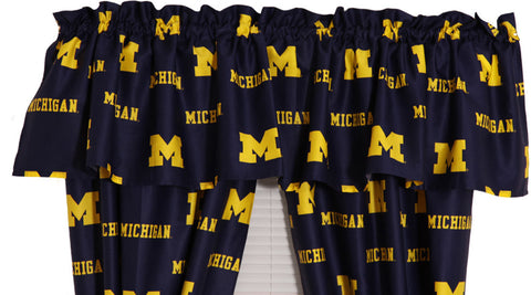 Michigan Printed Curtain Valance - 84 x 15 - MICCVL by College Covers - Peazz.com