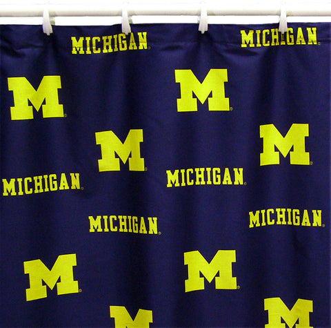 "Michigan Printed Shower Curtain Cover 70"" X 72"" - MICSC by College Covers - Peazz.com"