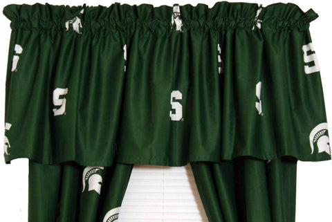 Michigan State Printed Curtain Valance - 84 x 15 - MSUCVL by College Covers - Peazz.com
