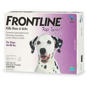 Frontline Top Spot, Dog 45-88 lbs (6 Doses) - Peazz.com