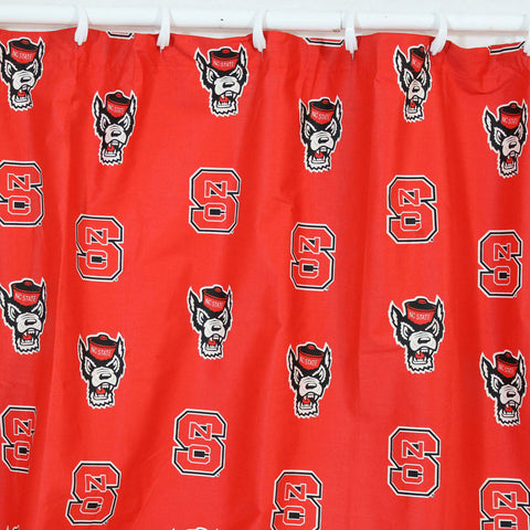 "NC State Printed Shower Curtain Cover 70"" X 72"" - NCSSC by College Covers - Peazz.com"