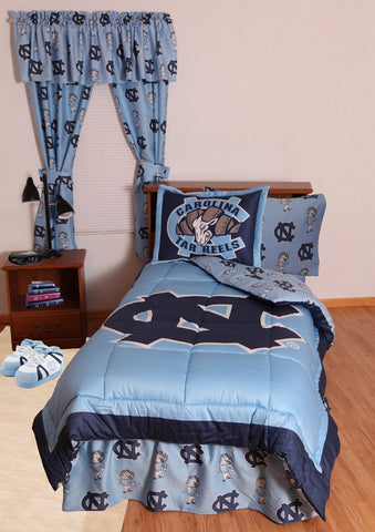 UNC Bed in a Bag Queen - With Team Colored Sheets - NCUBBQU by College Covers - Peazz.com