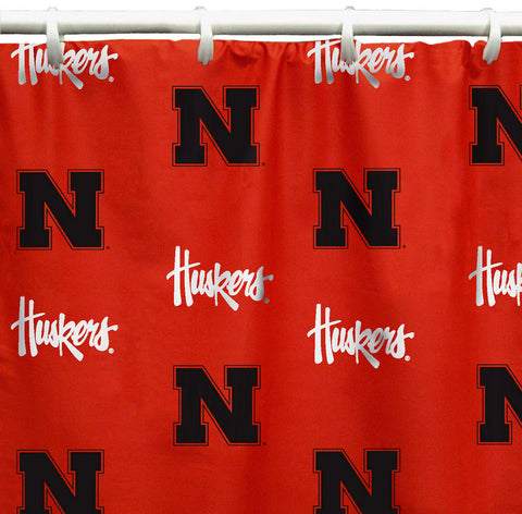 "Nebraska Printed Shower Curtain Cover 70"" X 72"" - NEBSC by College Covers - Peazz.com"
