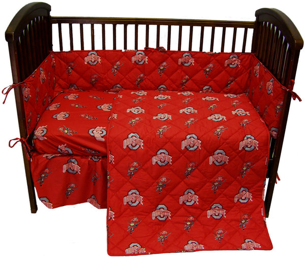 ohio state bedroom ohio state 5 baby crib set ohics by college covers 12731